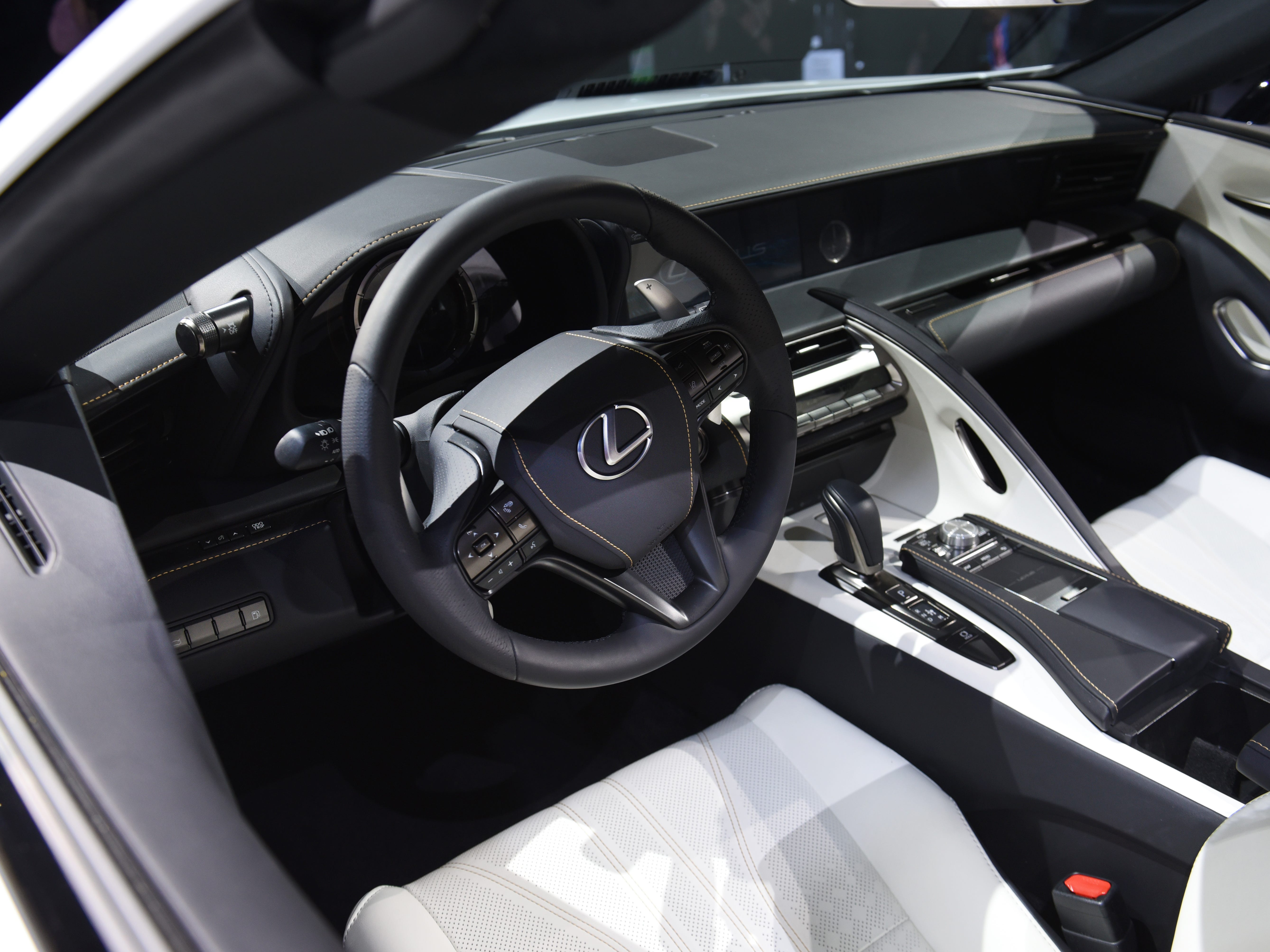 This is the unique interior of the Lexus LC Convertible concept.