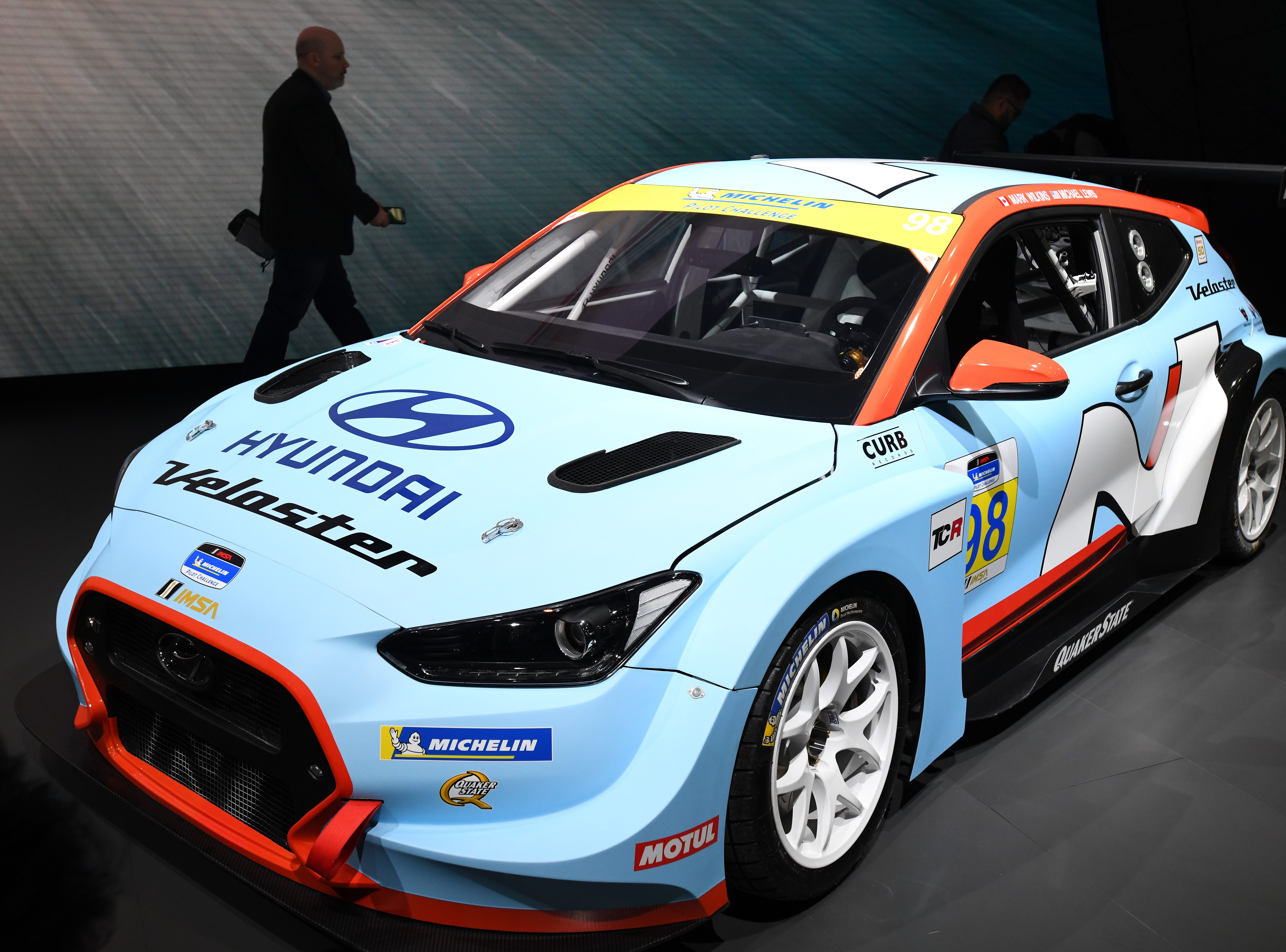 The Hyundai Veloster N TCR will be operated by Bryan Herta Autosport next week at the 2019 International Motor Sports Association Michelin Pilot Challenge.