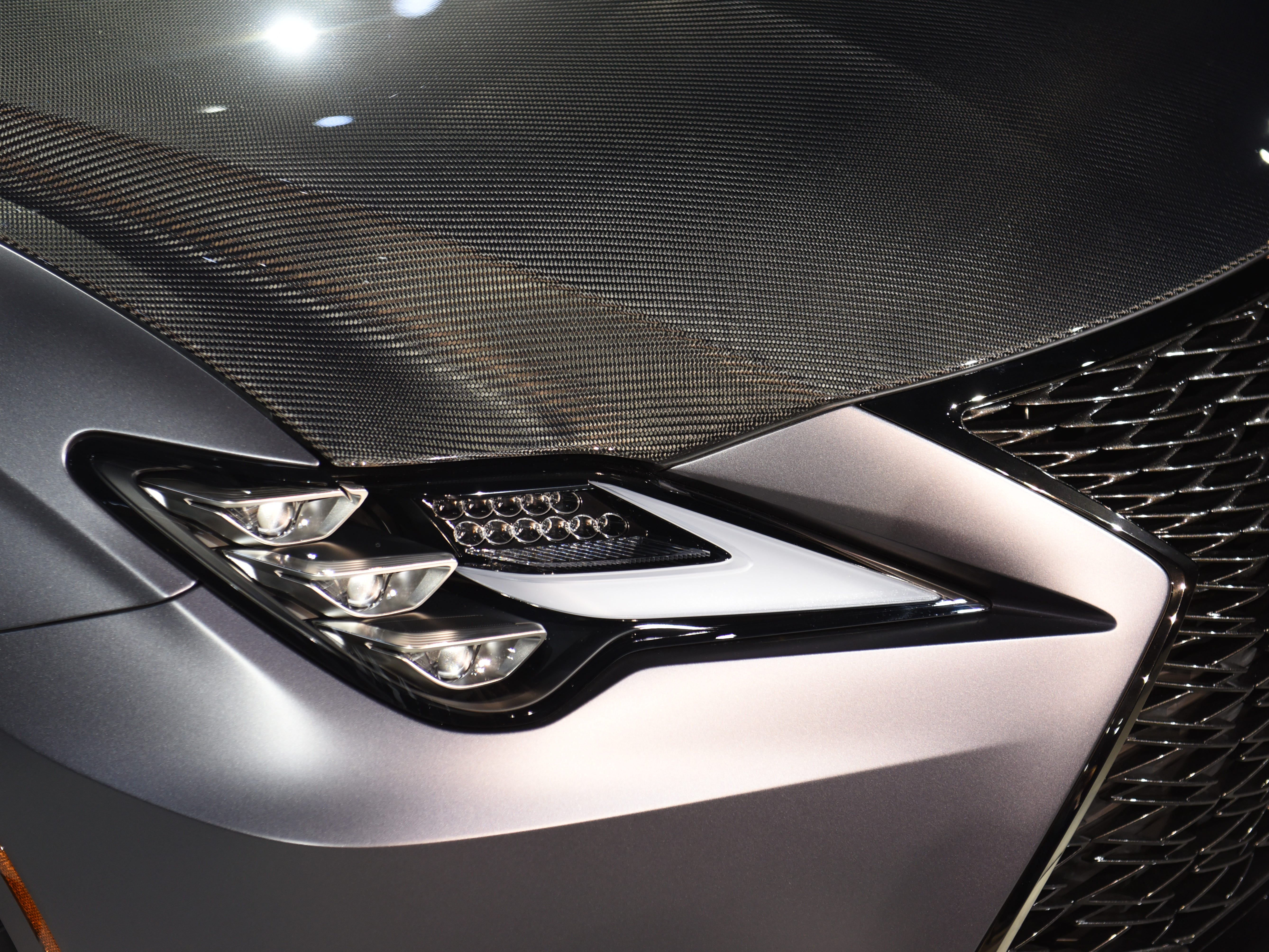 The Lexus RC F Track Edition features unique headlights.