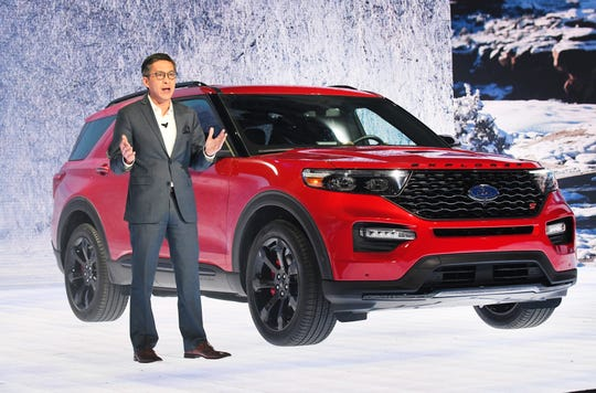 Ford Explorer ST and Hybrid: Has Thai-Tang, Ford executive vice president of product development and purchasing, introduces the Ford Explorer ST. It  gets a 3.0-liter EcoBoost engine cranking out 400 horsepower and 415 pound-feet of torque. A hybrid version of the Explorer also is offered for 2020.