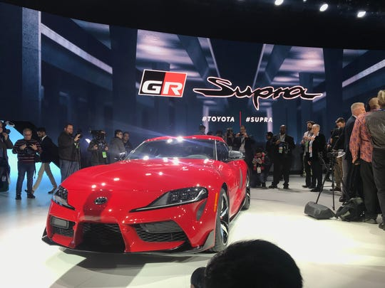 Toyota revives the Supra for the 2019 Detroit auto show at Cobo Center.
