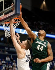 Nick Ward finished with 16 points and 11 rebounds in MSU's 71-56 victory over Penn State, which was the Spartans' 10th straight win.
