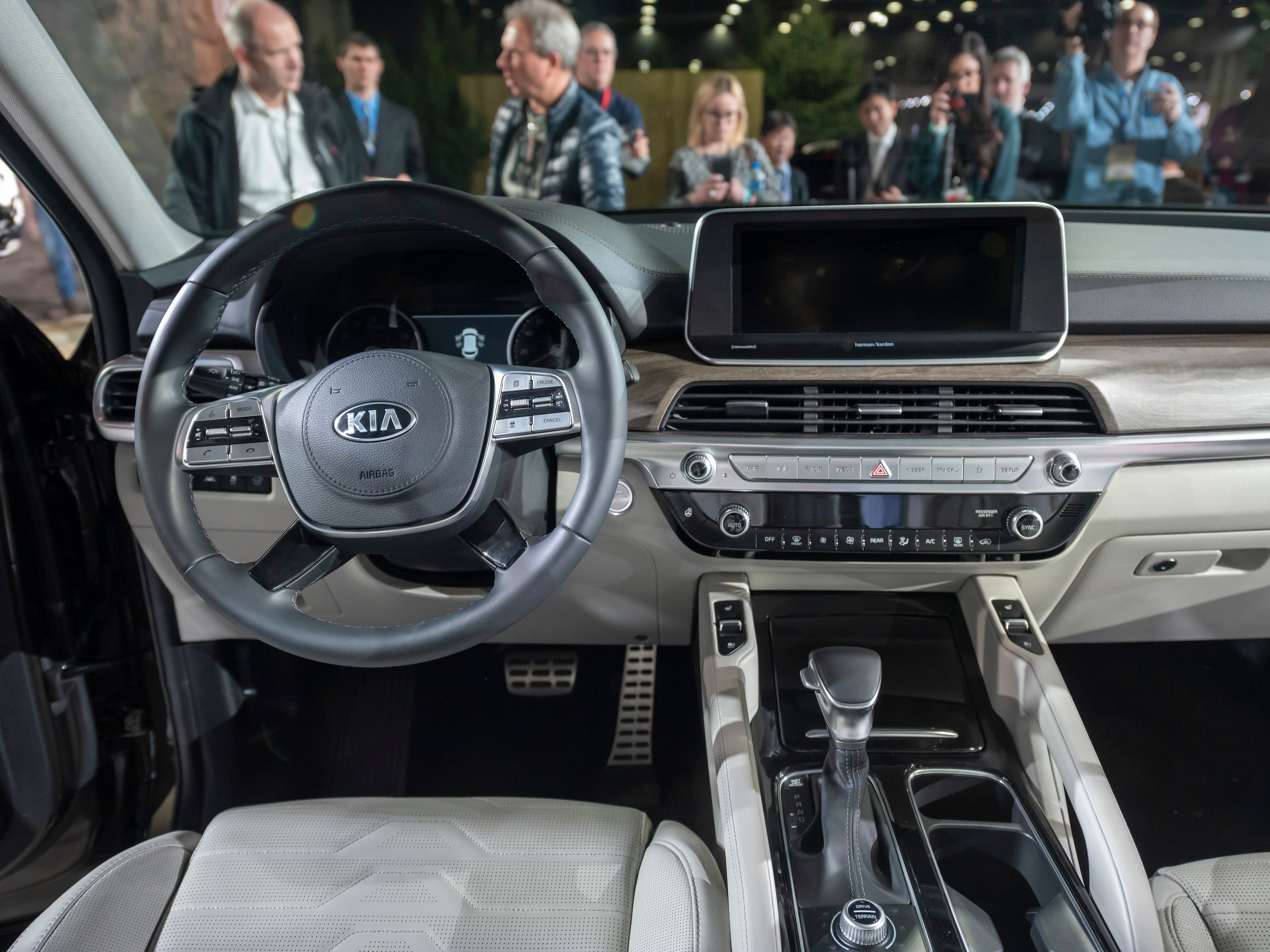 The interior of the 2020 Kia Telluride.