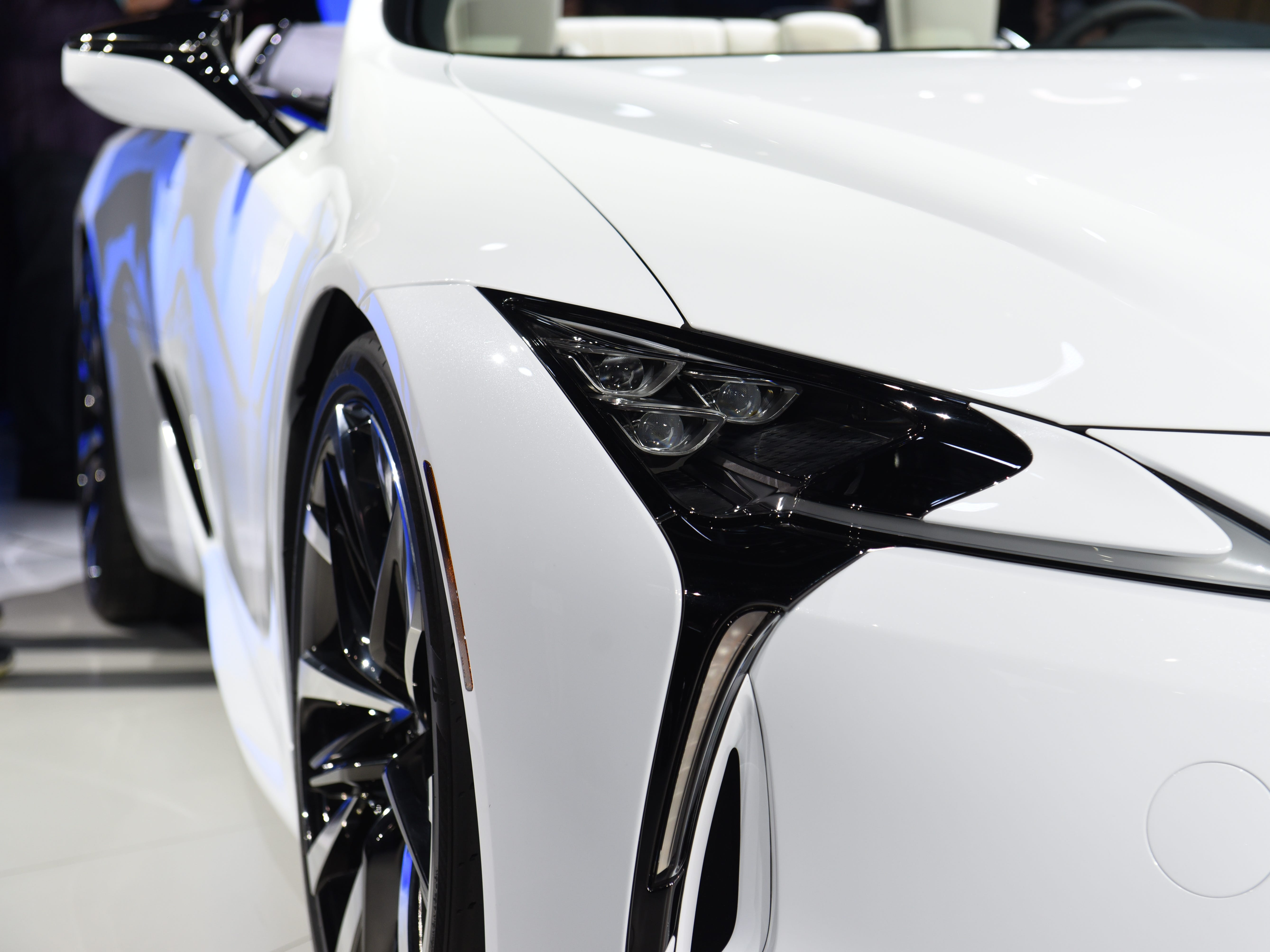 This is the passenger's side headlight on the Lexus LC Convertible concept.