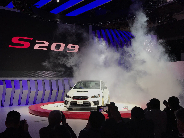 Subaru reveals the Impreza STI (Subaru Tecnica International) S209, available for the first time in America, at the Detroit auto show Monday.