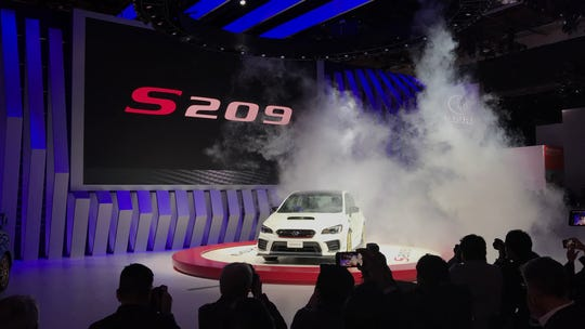 Subaru unveils Impreza STI (Subaru Tecnica International) S209 on the Detroit car program Monday available for the first time in America.