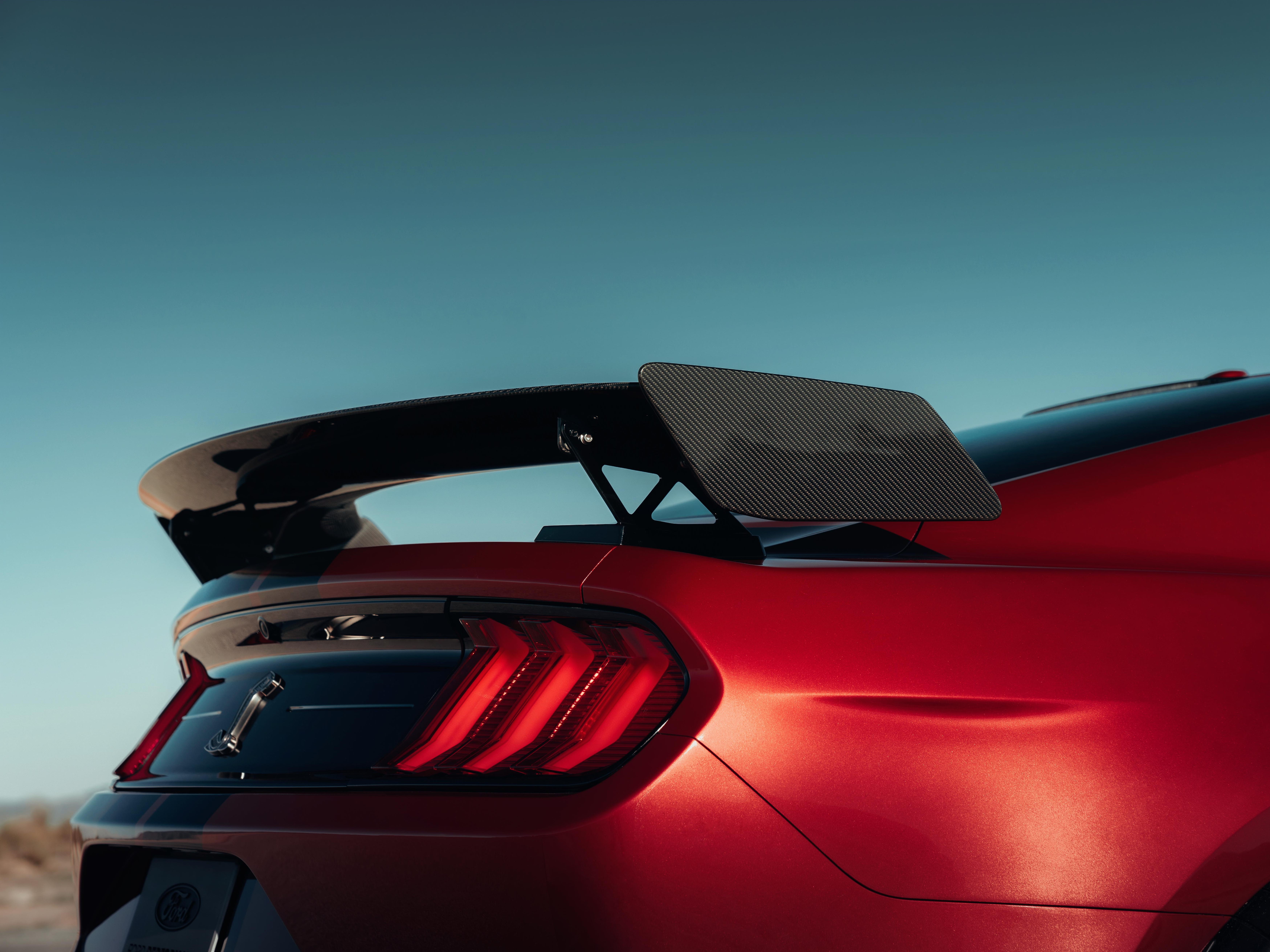 This is the spoiler on the Mustang GT500.