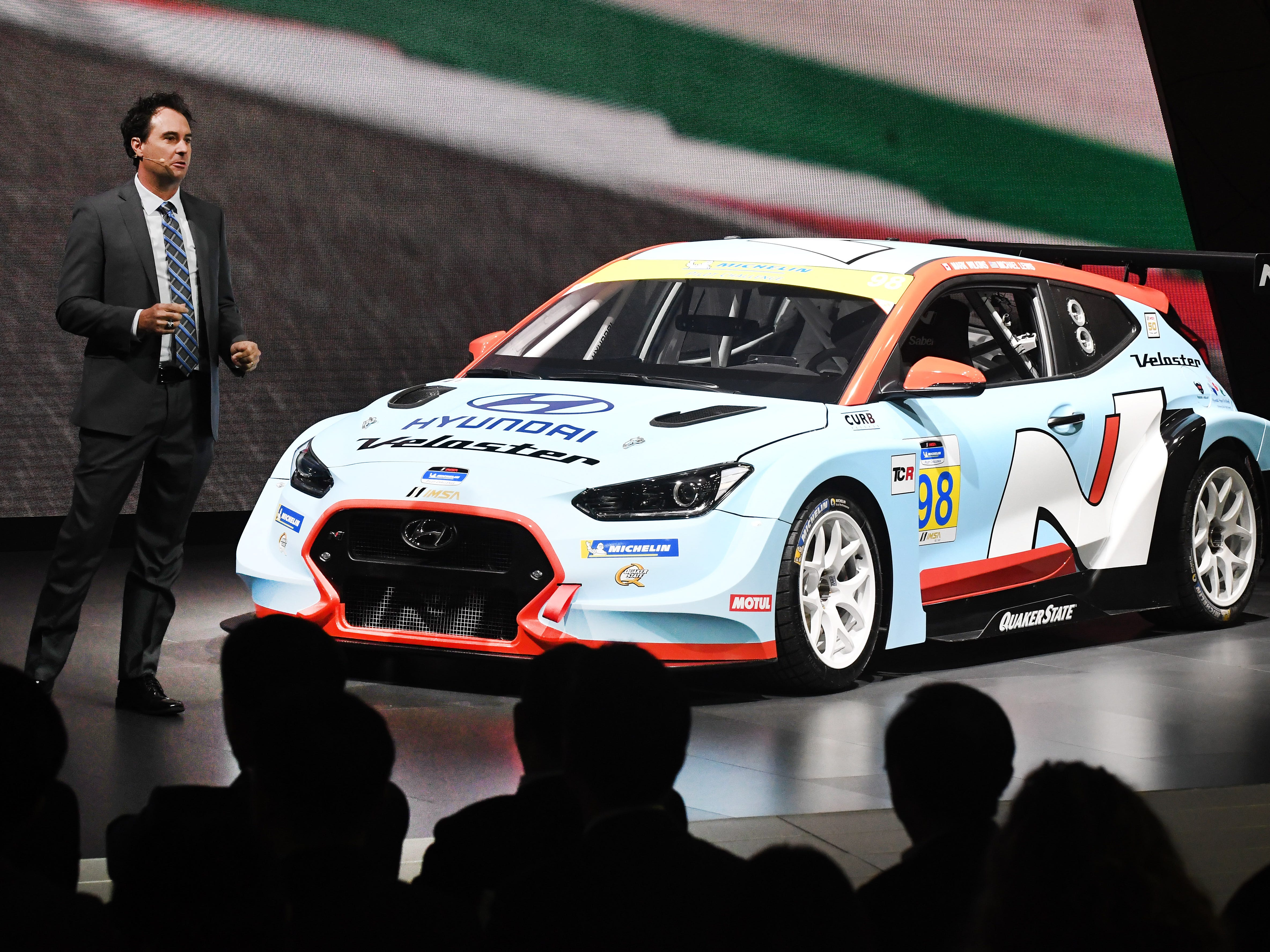 Bryan Herta, president and co-owner Bryan Herta Autosport, talks about the Hyundai Veloster N TCR race car.