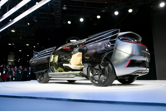 The GAC Motor electric concept Entranze gets a reveal at the Detroit auto show.