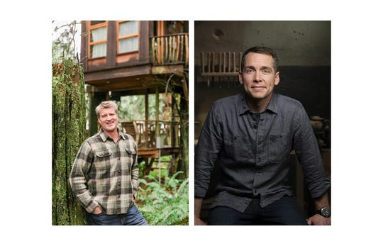 Pete Nelson, left, of Animal Planet's popular Treehouse Masters show, and Clint Harp, right, of HGTV's Fixer Upper and DIY's Wood Work, will appear at the Heritage Federal Credit Union Home Show to be held at Evansville's Old National Events Plaza Saturday, April 6 and Sunday, April 7.