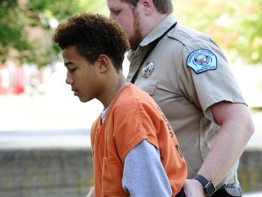 Elijiah Starks, 15, is charged with the murder of his 14-year-old cousin Jaylan Brock.