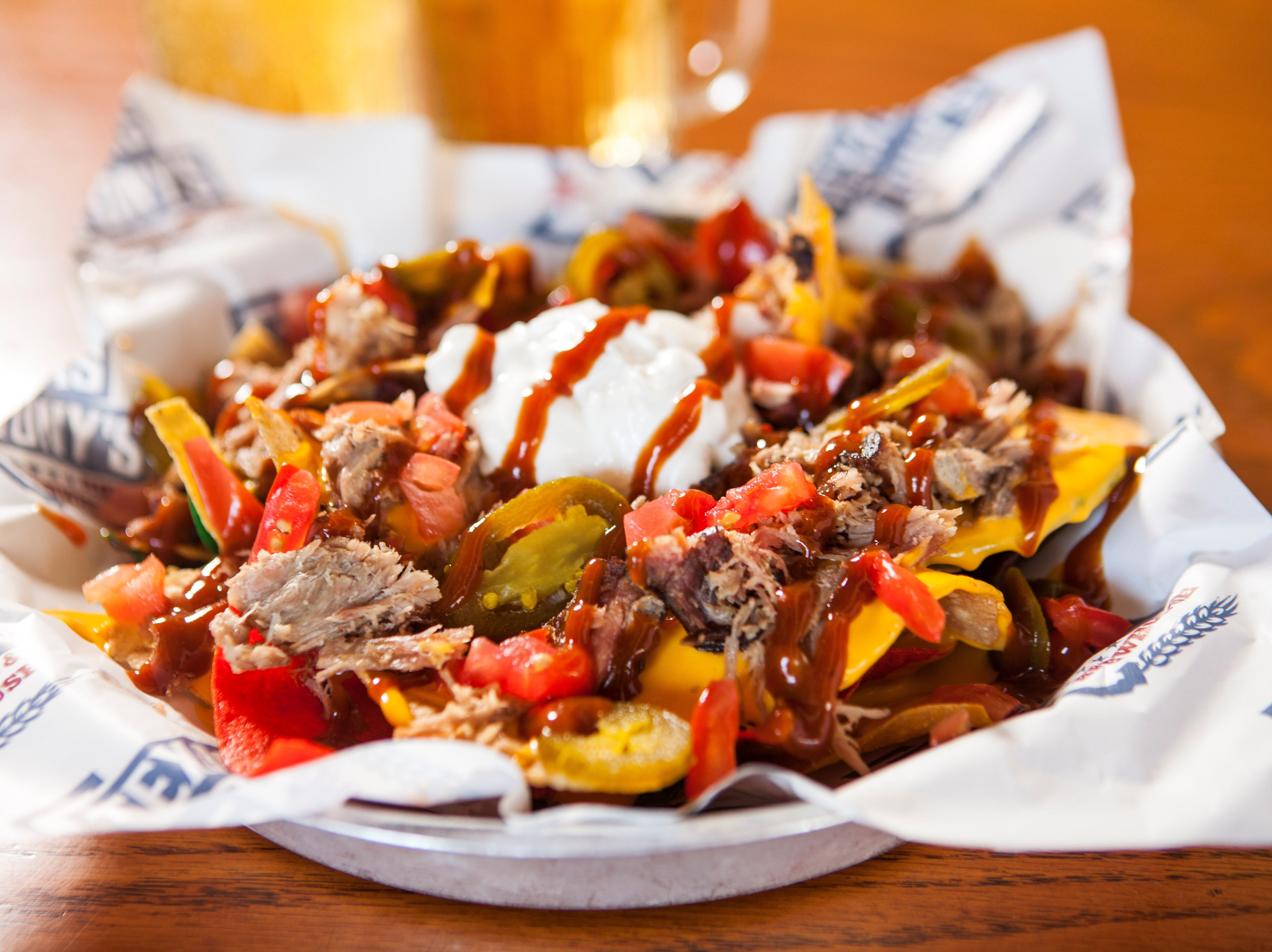 BBQ Nachos from Texas Tony's may be topped with pork, brisket or chicken. The East Naples-based restaurant is opening a second location in Cape Coral.