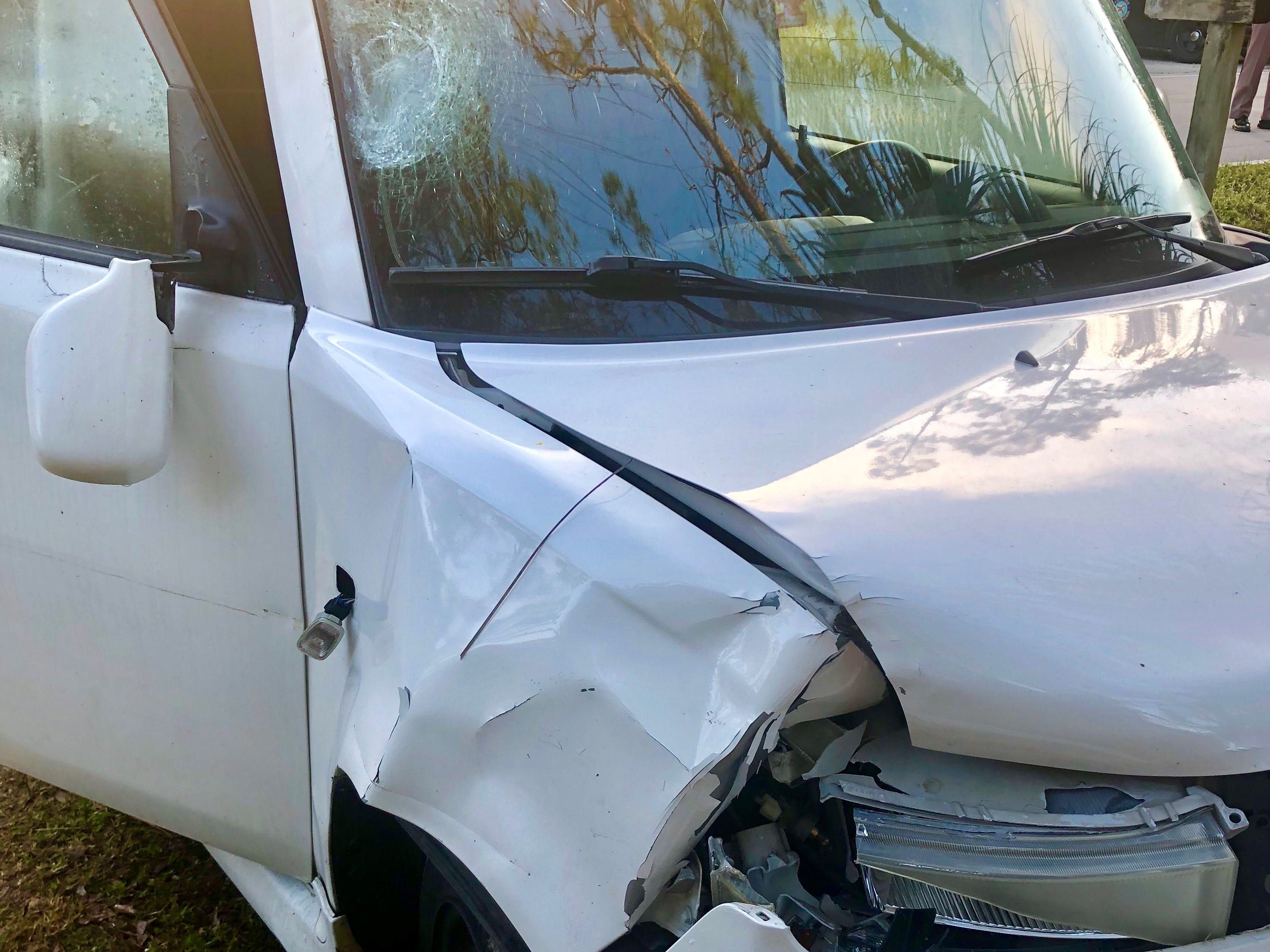 The Florida Highway Patrol said Alana Marie Tamplin, 12, was walking south on the edge of Durrance Road near Deal Road when she was hitby this vehicle Monday.