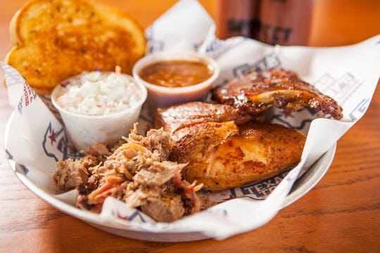 Texas Tony's offers a variety of combination plates.