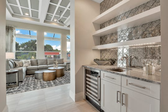 Just beyond the kitchen is a bonus room.