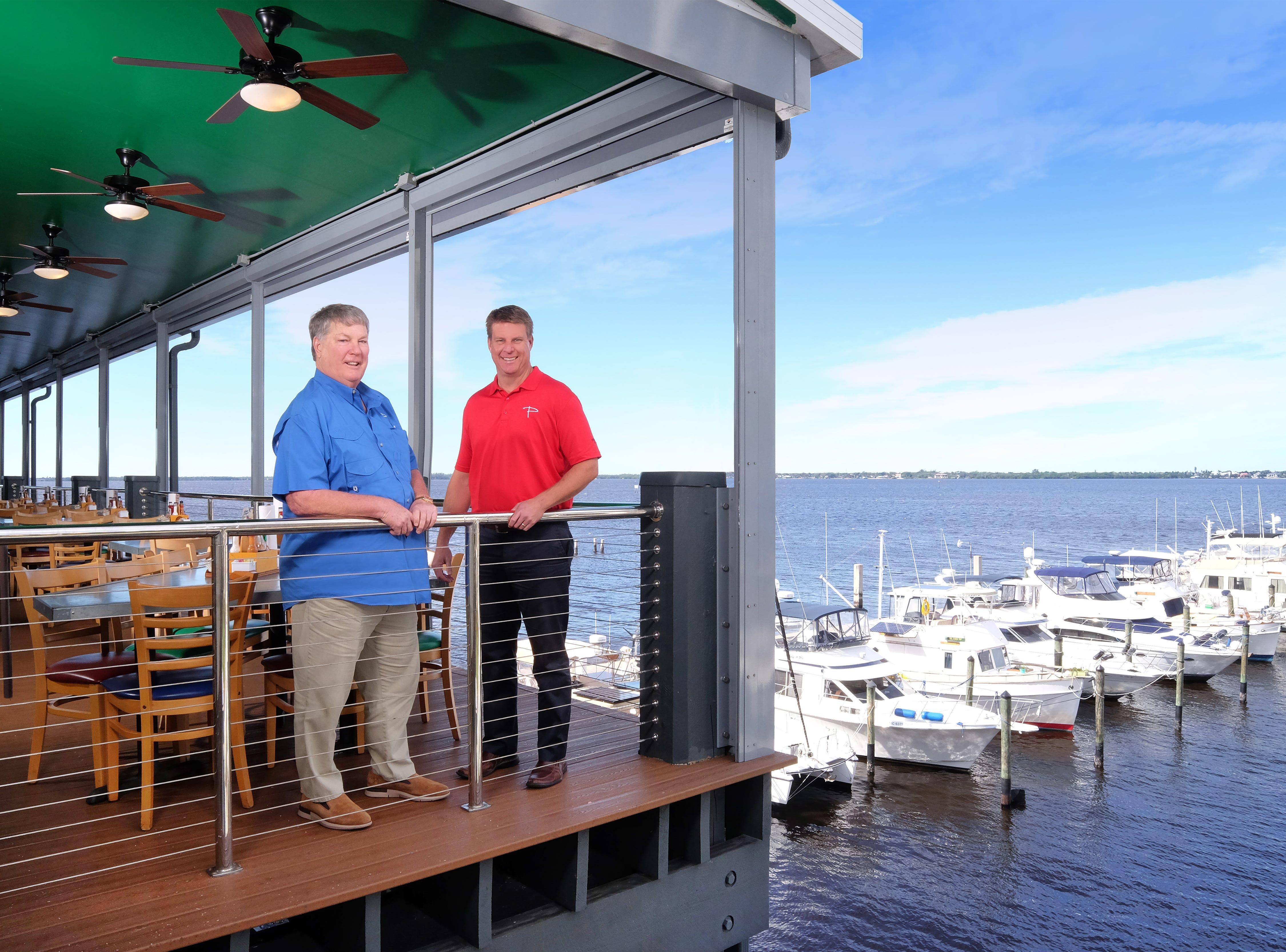Tony Phelan, left, and his son Grant Phelan own Phelan Family Brands, the company behind Pinchers, Deep Lagoon Seafood and Texas Tony's Rib & Brewhouse.