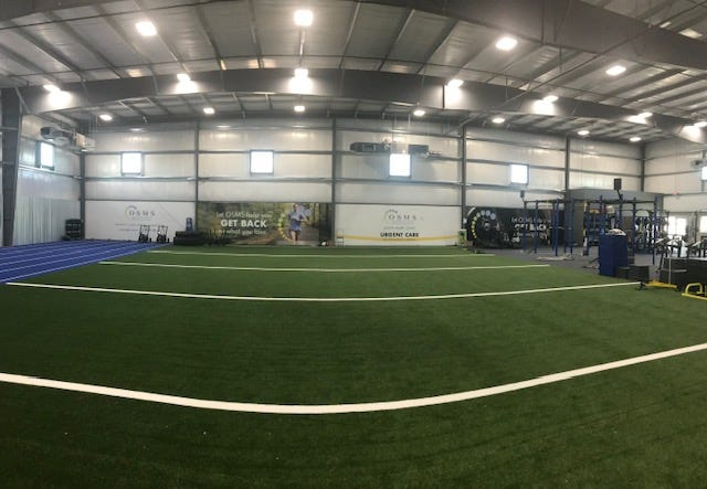 Synergy Sports Performance in Hobart is an 18,000-square-foot facility that includes space for personal and group training, clinics, camps. and sports recovery.