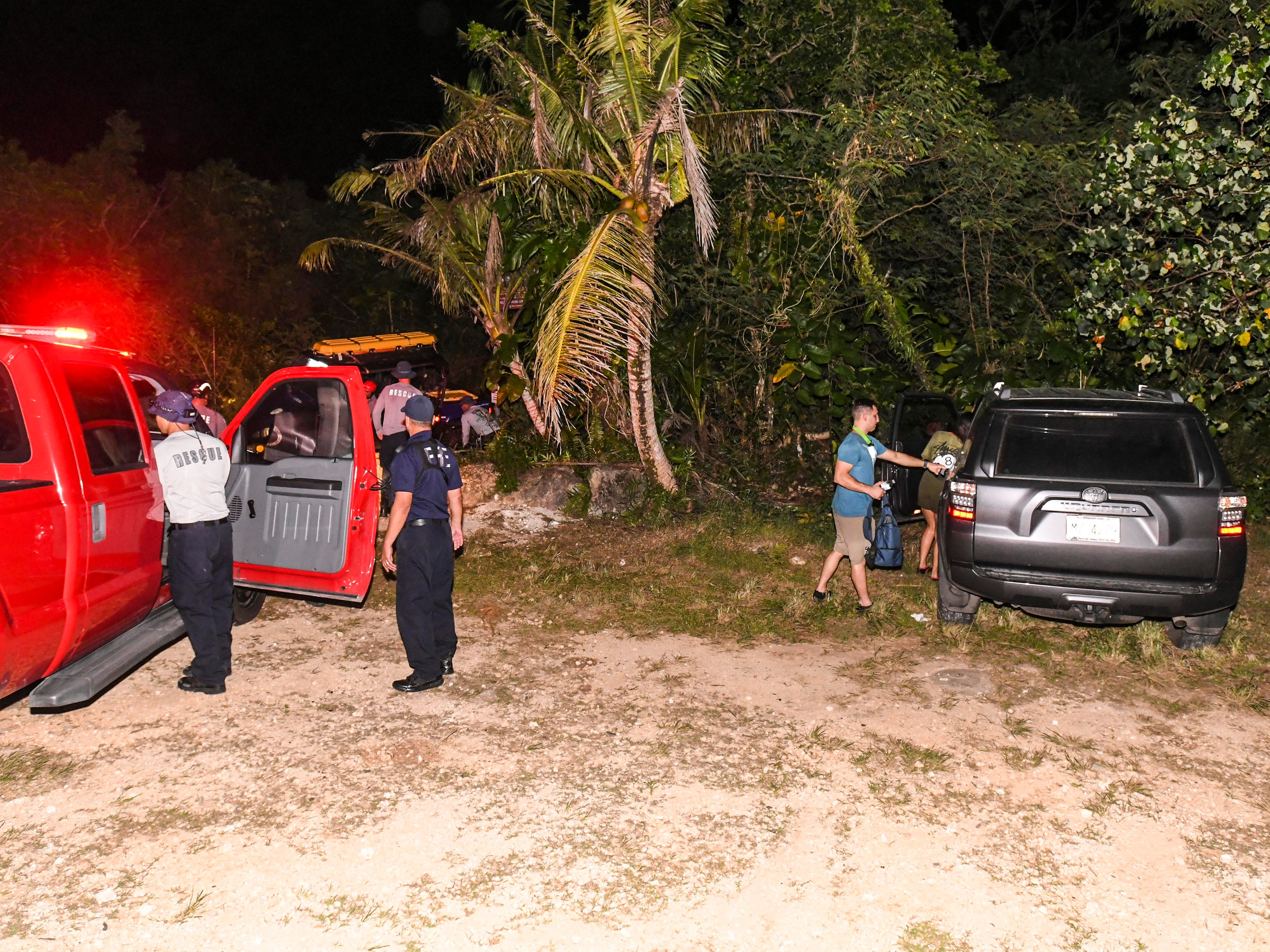 Guam Fire Department personnel rescued hikers who lost their bearings while exploring the area near the Pagat Caves in Mangilao on Sunday, Jan. 13, 2019. A man and woman alerted emergency personnel via mobile phone that they were unable to find their way back out as darkness fell over the area. GFD rescue personnel responded and was able to locate the individuals in the jungle. An GFD all-terrain vehicle was used to return the hikers back to the trail head just before 8:00 p.m. the same evening.