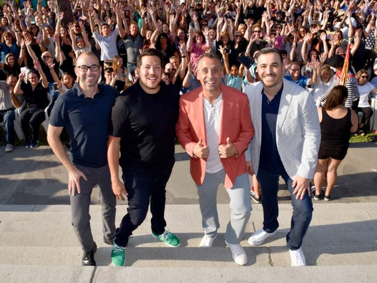 "The ""Impractical Jokers"" cast (from left, James Murray, Sal Vulcano, Joe Gatto and Brian Quinn) will perform Aug. 11 at Ruoff Home Mortgage Music Center."