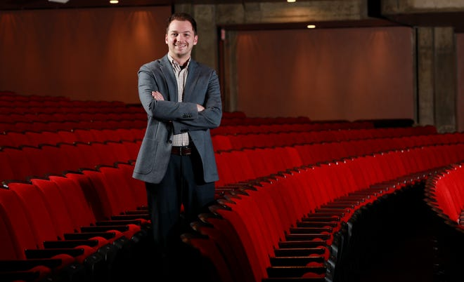 Aaron Hurt, 32, is the new executive director of the Butler Arts Center.