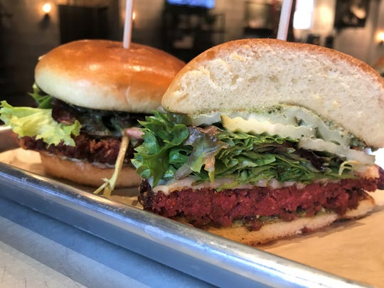 The housemade beet and brown rice vegetarian burger at Krueger's Tavern has been named one of Cincinnati's best  meatless burgers by Cincinnati Magazine.  Krueger's Tavern opens  Jan. 14, 2019, at 323 N. Delaware St., at Mass Ave., Indianapolis.