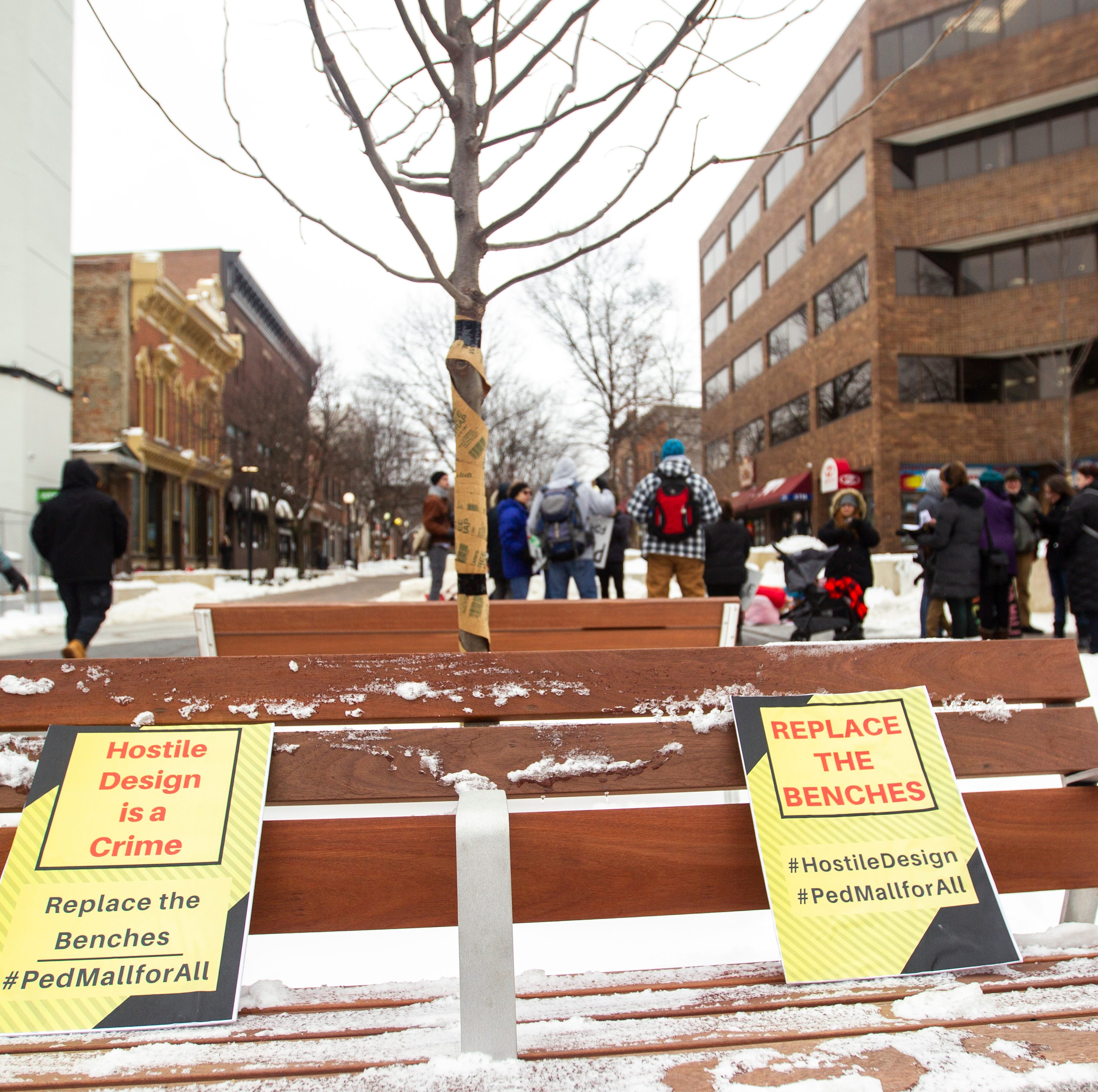 Iowa City bench protesters not in mood to compromise
