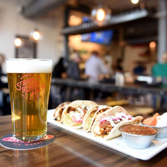 Strawberry Alley Ale Works offers food along with amazing craft beer.