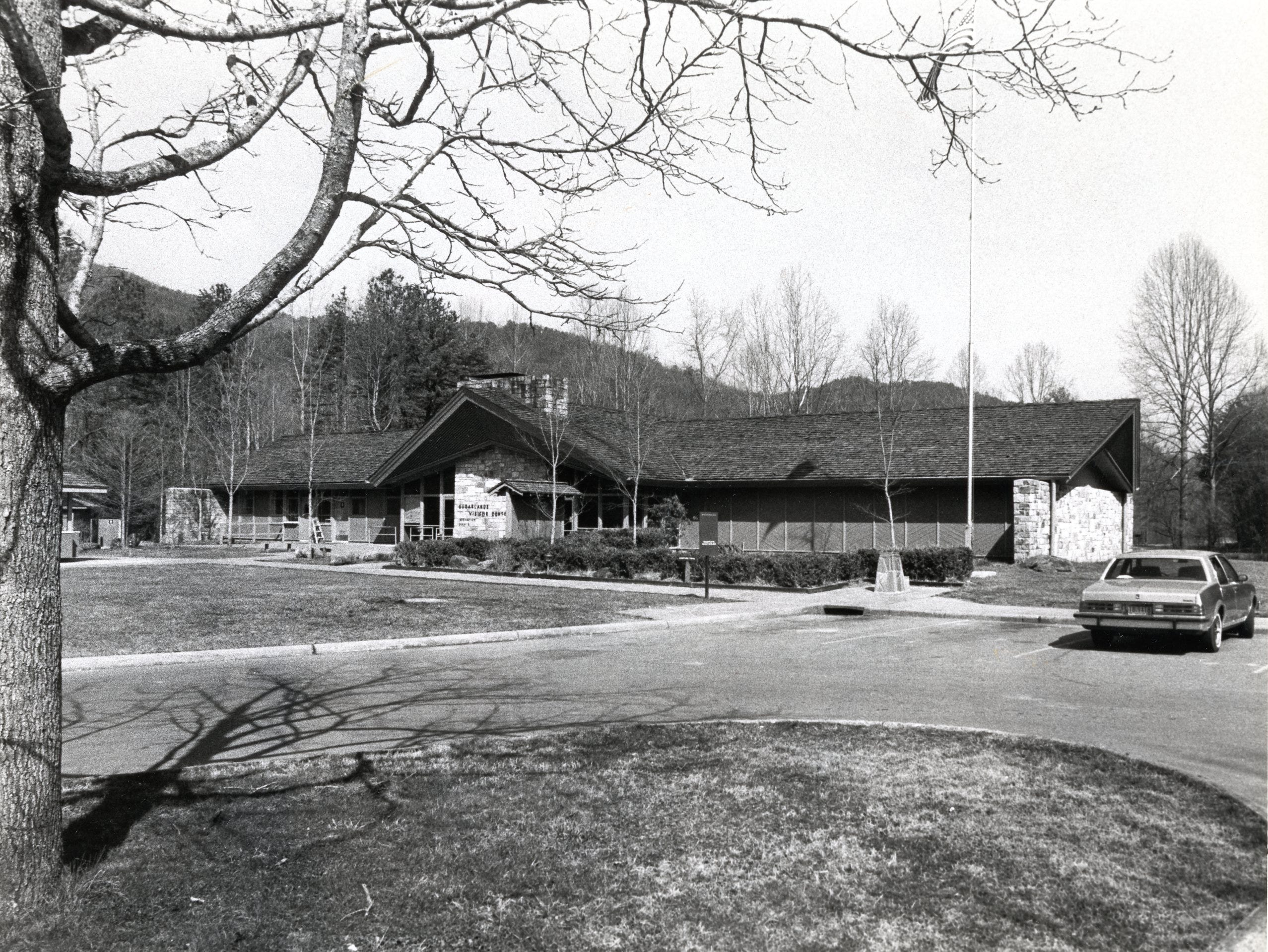 Sugarland Information Center in the Great Smokey Mountains National Park, March, 1983