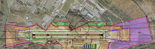 A rendering of the proposed Oak Ridge Airport.