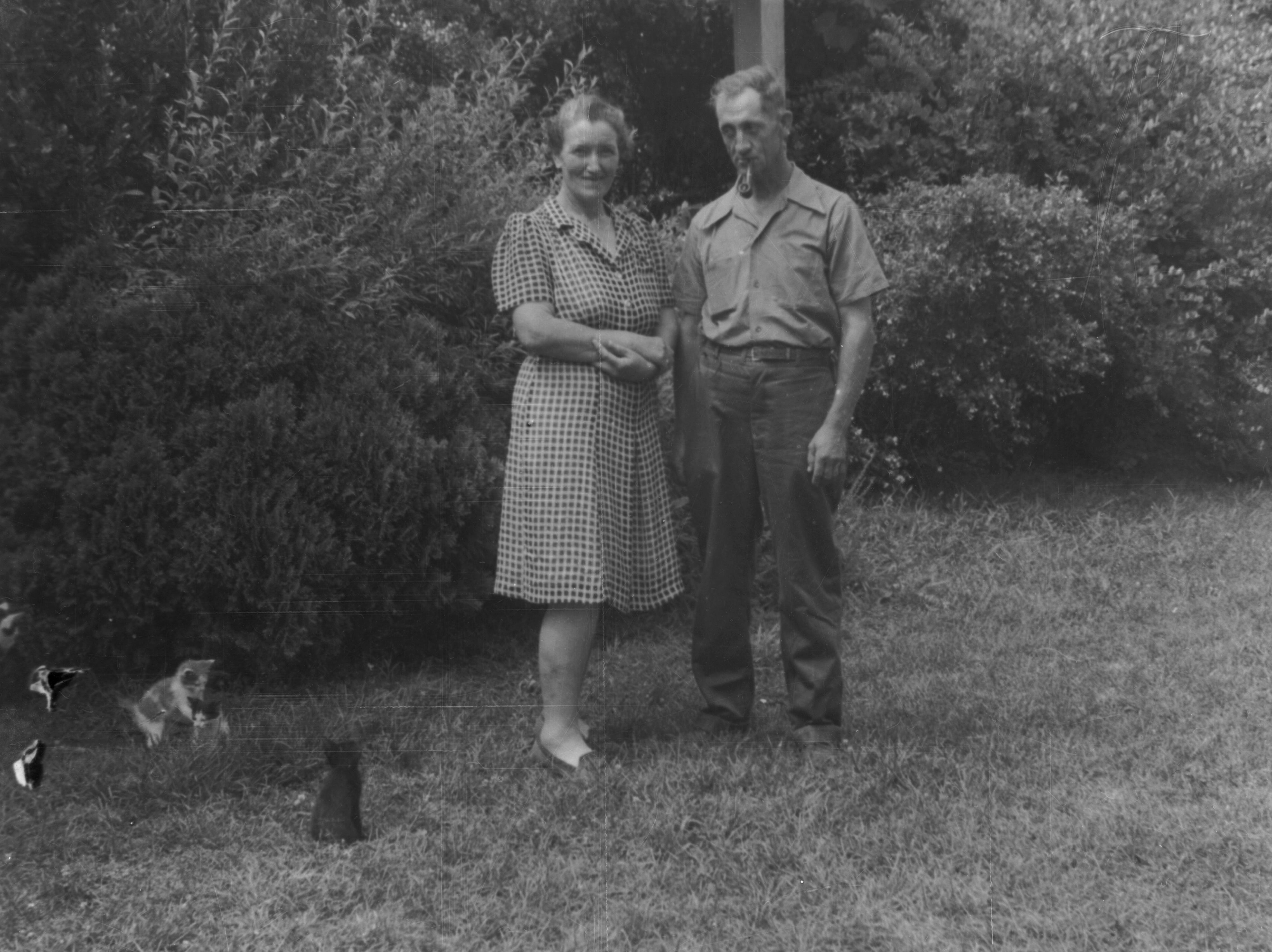 Milton and Ruby LeQuire in the 1940s. In 1929 the U.S. government paid the LeQuires $9,000 for their Cades Cove land which became part of the Great Smoky Mountains National Park.