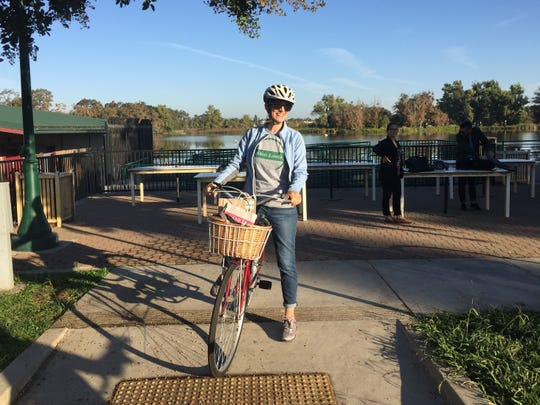 Kathryn Siddle leads bike adventures through the scenic wine country around Lodi. The destination hosts annual cycling events.