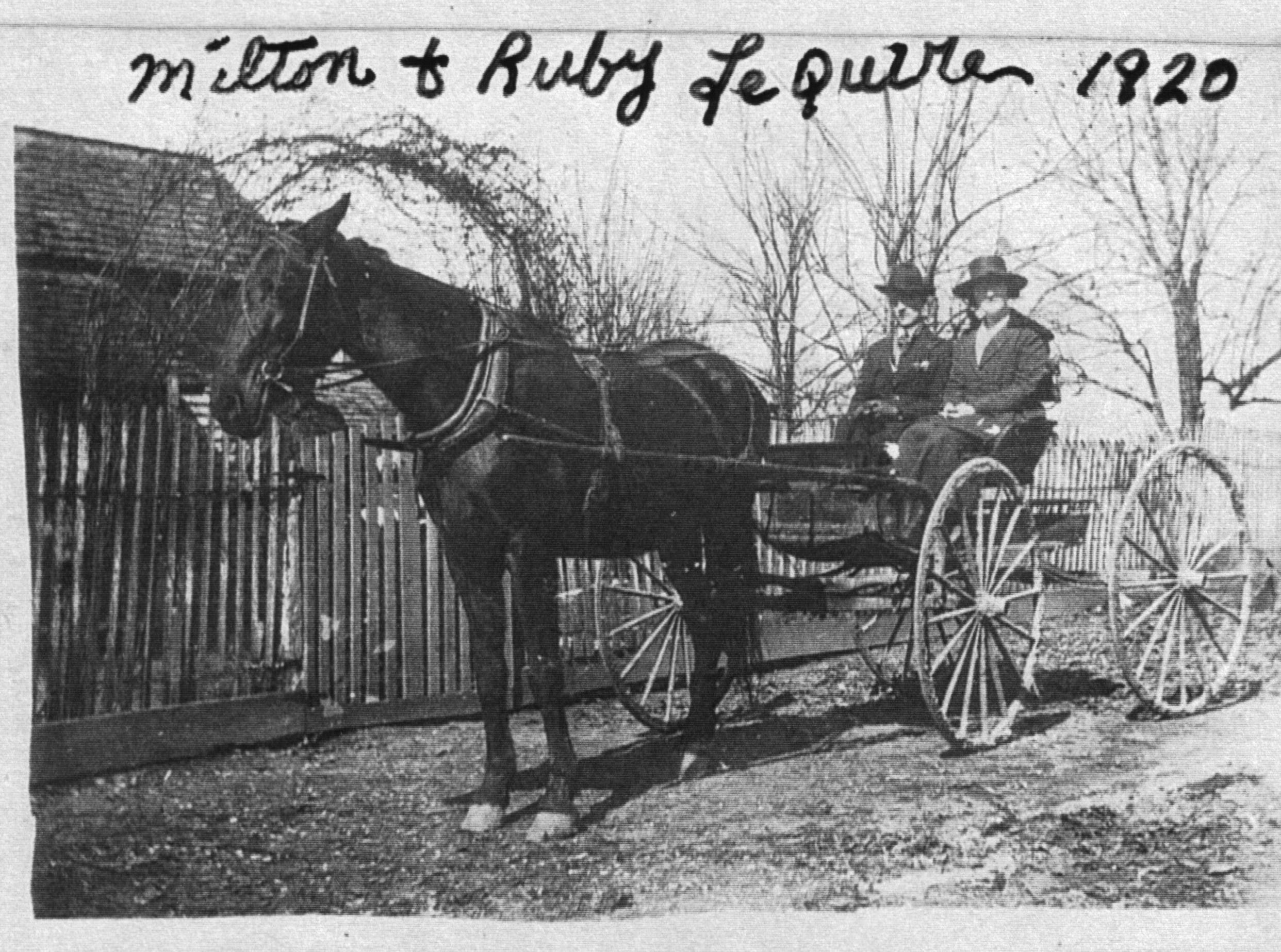 Cades Cove residents Milton and Ruby LeQuire in 1920.