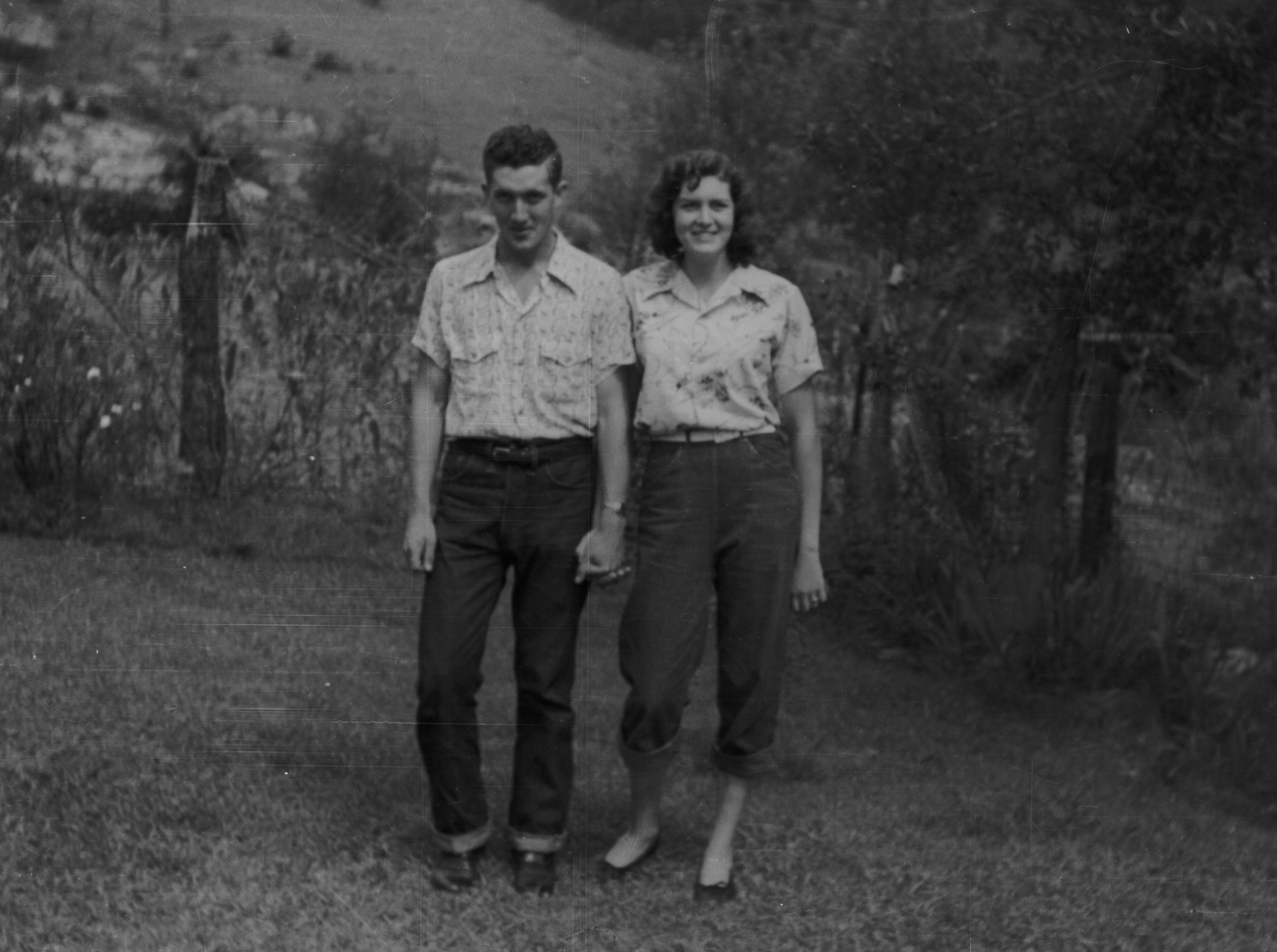 Gene LeQuire and RubyJo Williams, 1948. LeQuire was an infant in 1929 when the U.S. acquired his family's property in Cades Cove to became part of the Great Smoky Mountains National Park.