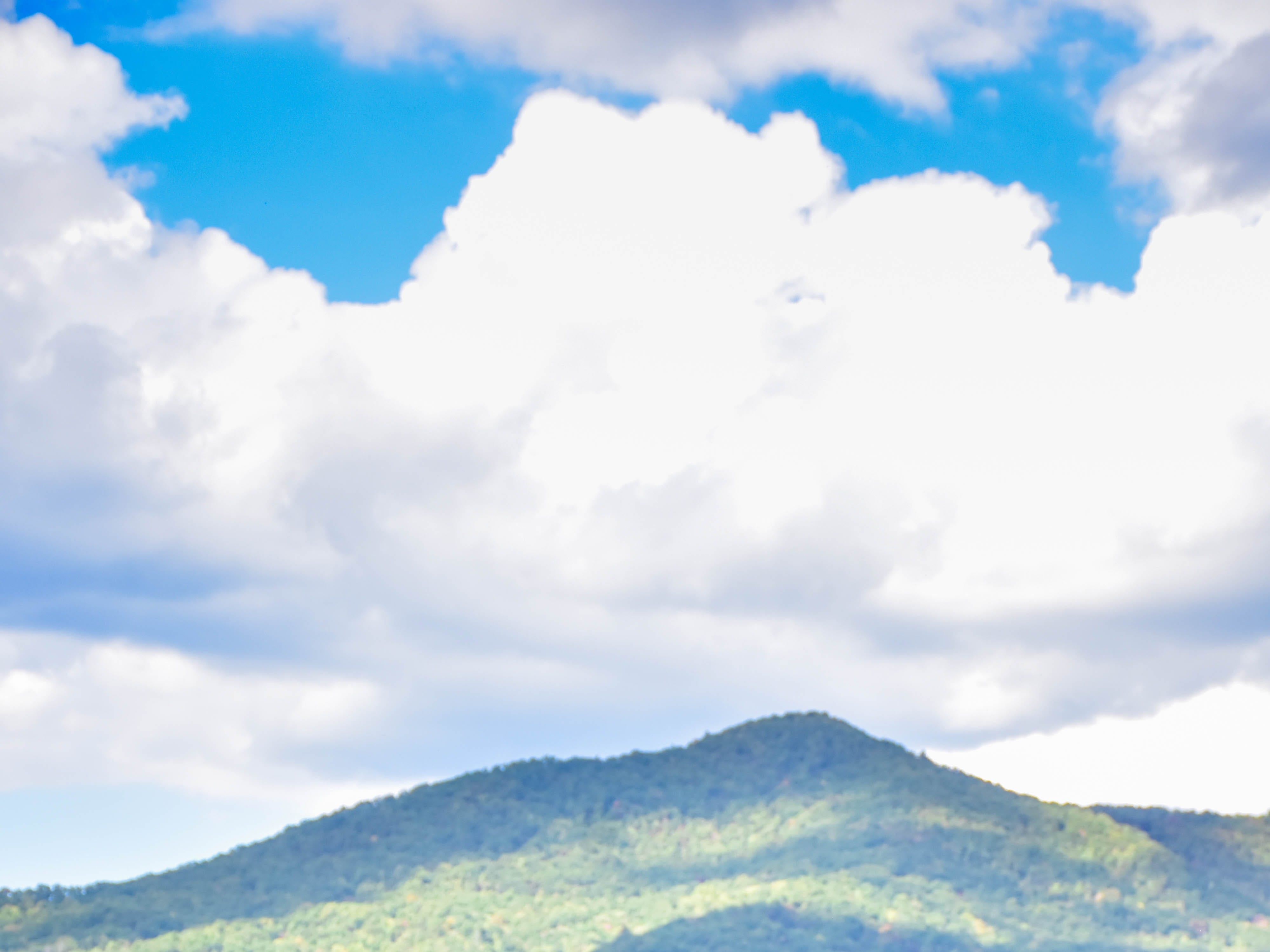 A couple enjoys the view of the Smokey Mountains , October, 2016.