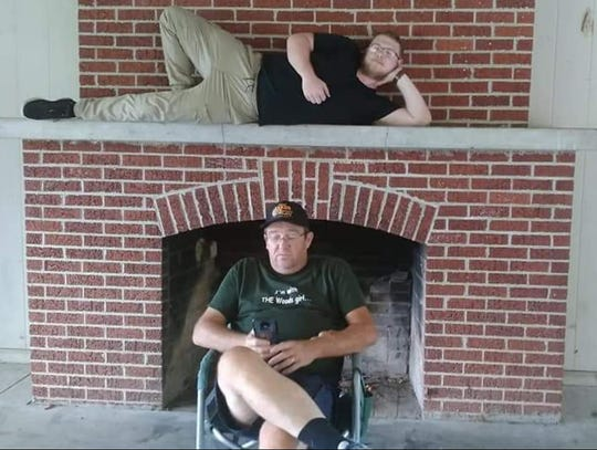 Nathan Davis sits above his father, Luther Davis. Nathan died Sunday, Jan. 13, 2019, after a car crash in Maynardville. His family says he will donate a kidney to his father, who has had to undergo dialysis treatments for five and a half years.