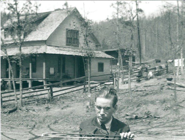 Ollie Myers plays in Cades Cove in an undated photo. Myers was blind and could play any instrument put in his hands according to his niece, Verna Myers.