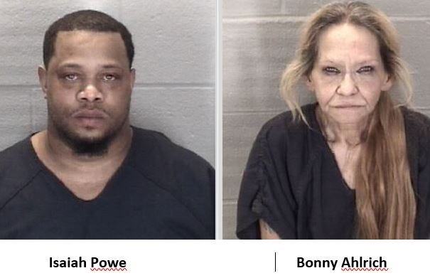 Jail inmates Isaiah Powe, 42, and Bonny Ahlrich died Saturday.