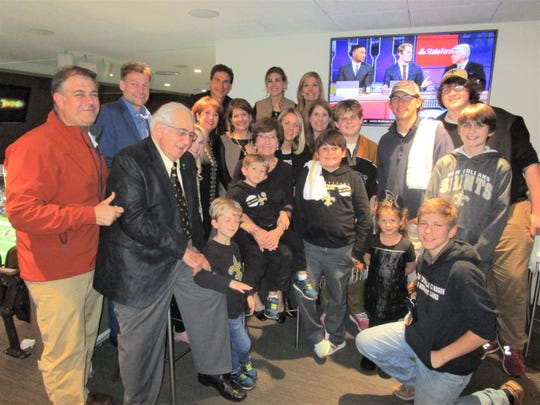 The Blanco family gathered at the Superdome for the playoff game between the New Orleans Saints and the Philadelphia Eagles.