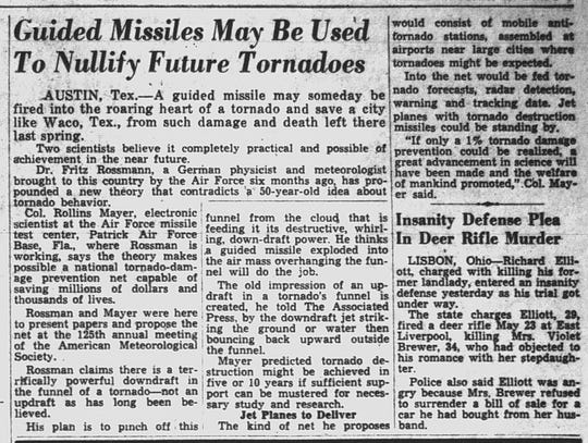 This article ran in the Nov. 12, 1952 Lancaster Eagle-Gazette.