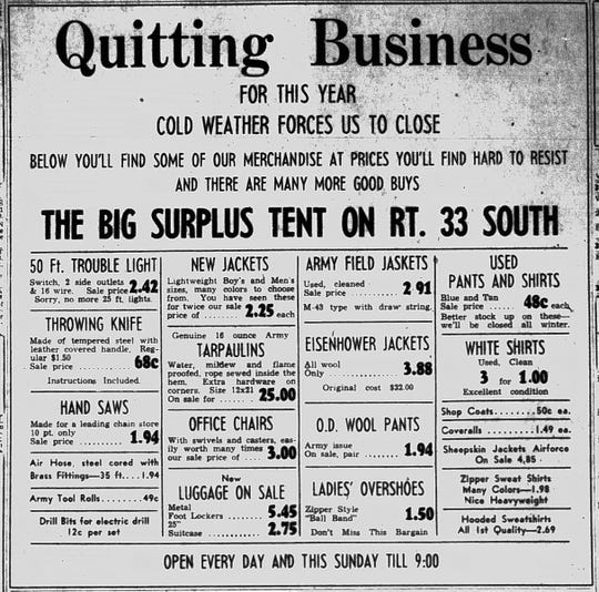 This ad ran in the Nov. 10, 1953 Lancaster Eagle-Gazette.
