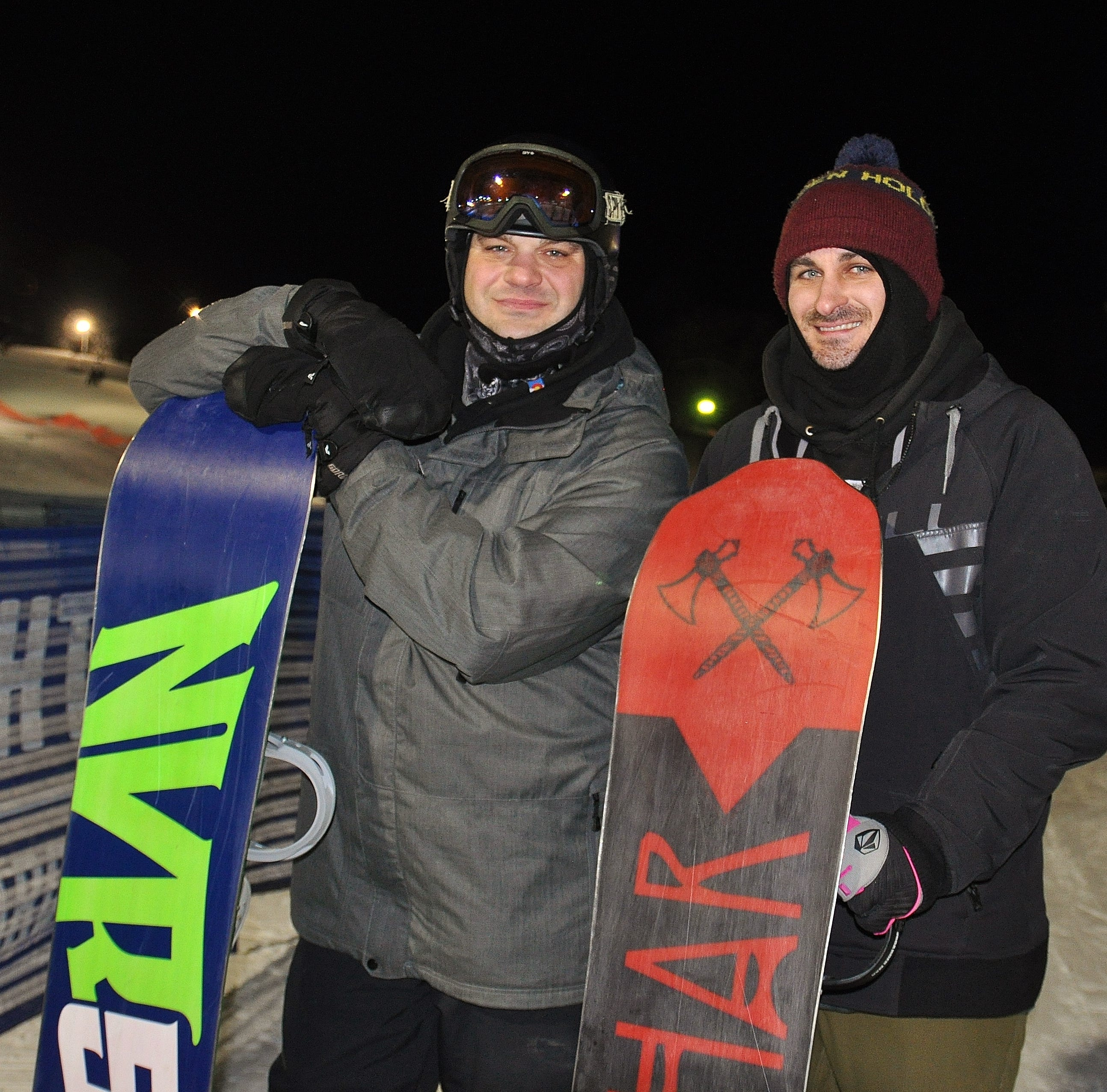 Snowboarders break record with 16th and last stop at Mt. Brighton in snowboarding marathon