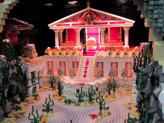This Greek Temple will be on display at the BrickUniverse LEGO Fan Convention in Louisville Jan. 19-20.