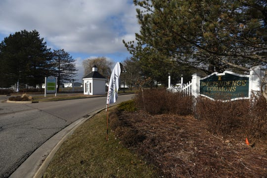 The entrance to Independence Commons in Potterville, a manufactured housing community.