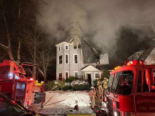 Mansfield Fire Department responded to a structure fire at 42 Sherman Avenue Monday just before 6 p.m.
