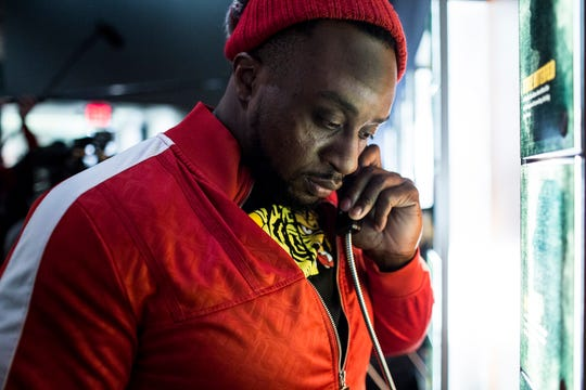 January 14 2019 - WWE Superstar Big E listens to a recording inside of the National Civil Rights Museum during a tour on Monday morning. The WWE Superstars were in town for the the WWE Monday Night Raw at the FedExForum.