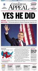 Front page of November 5, 2008.