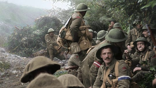 "DIrector Peter Jackson collected rarely seen or never-before-seen 100-year-old film footage to create ""They Shall Not Grow Old,"" a documentary about World War I that screens Monday."