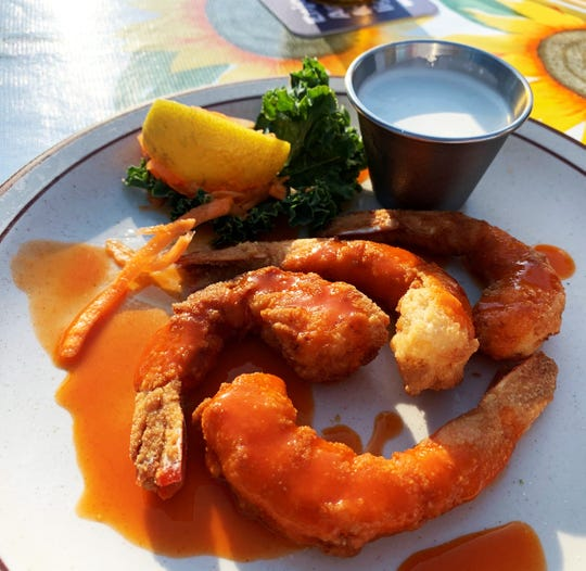 Bufflao shrimp from the Little Bar, Goodland.
