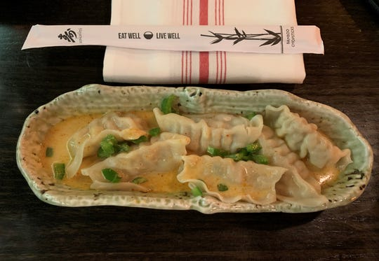 Red curry dumplings from Zen Asian BBQ, Naples.