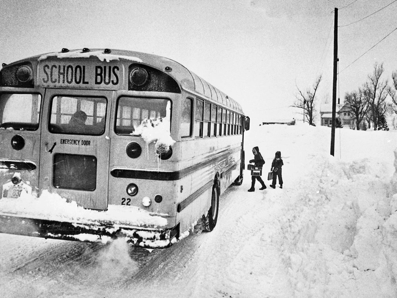 The schoolbus gets through in January 1979, a month in which Milwaukee got socked with three 10-inch-plus snowstorms. Some districts, including Milwaukee Public Schools, canceled school for several days after the storms, more for the brutal cold that followed than the blizzards.
